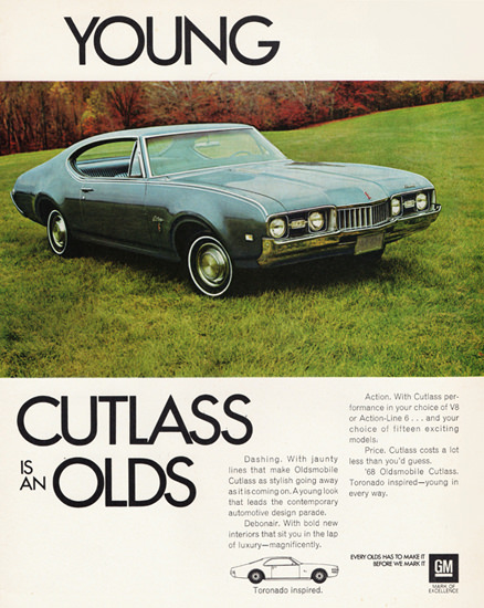 Oldsmobile Cutlass Holiday 1968 Young Is An Olds | Vintage Cars 1891-1970