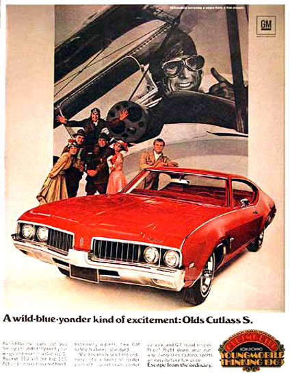 Oldsmobile Cutlass S Coupe 1969 WildBlueYonder | Vintage Cars 1891-1970