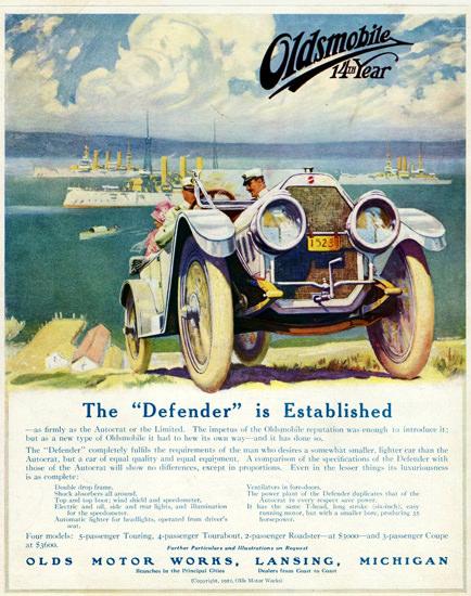 Oldsmobile Defender 5 Passenger Touring 1912 | Vintage Cars 1891-1970