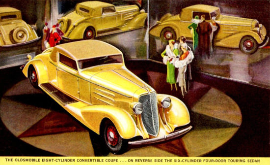 Oldsmobile Eight Convertible Coupe 1933 | Vintage Cars 1891-1970