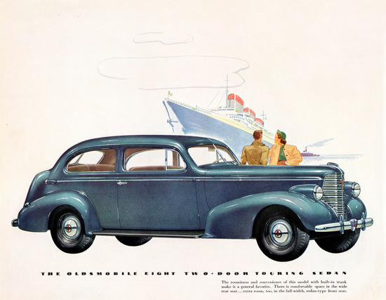 Oldsmobile Eight Two Door Touring Sedan 1938 | Vintage Cars 1891-1970