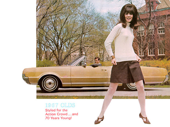 Oldsmobile Girl 1967 Styled For the Action Crowd | Sex Appeal Vintage Ads and Covers 1891-1970