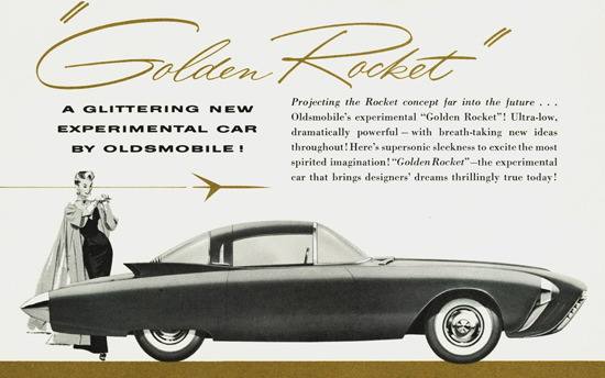 Oldsmobile Golden Rocket Lady 1956 | Vintage Cars 1891-1970