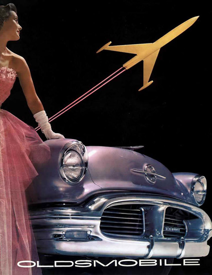 Oldsmobile Lady 1956 | Sex Appeal Vintage Ads and Covers 1891-1970