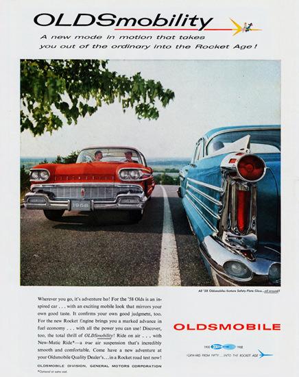 Oldsmobile Models 1958 In To The Rocket Age   Vintage Cars 1891-1970