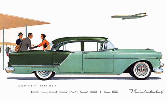 Oldsmobile Ninety-Eight Airport Green | Vintage Cars 1891-1970