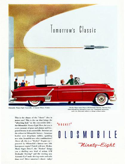 Oldsmobile Ninety Eight Convertible 1952   Vintage Cars 1891-1970