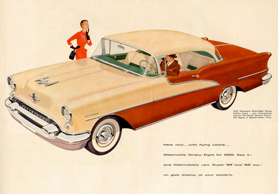 Oldsmobile Ninety-Eight DeLuxe Coupe 1955 | Vintage Cars 1891-1970