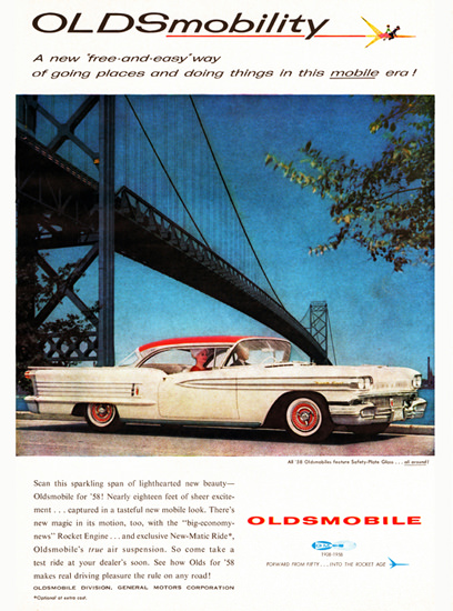 Oldsmobile Ninety Eight Holiday 1958 OLDSmobility | Vintage Cars 1891-1970