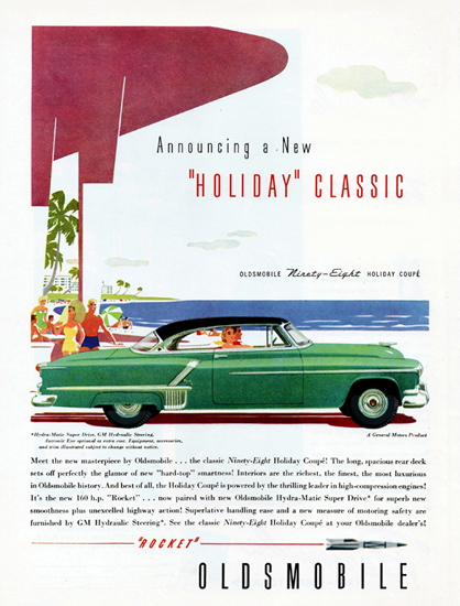 Oldsmobile Ninety-Eight Holiday Coupe 1952 | Vintage Cars 1891-1970
