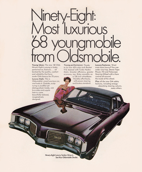 Oldsmobile Ninety Eight Luxury 1968 Young   Vintage Cars 1891-1970