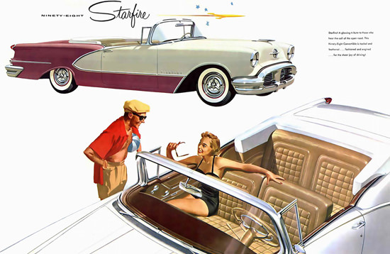 Oldsmobile Ninety-Eight Starfire 1956 | Sex Appeal Vintage Ads and Covers 1891-1970