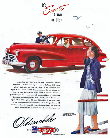 Oldsmobile Sedan Yachting Outfit Tilly | Vintage Cars 1891-1970