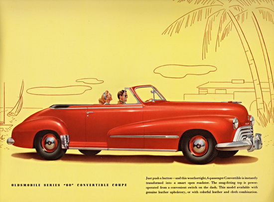 Oldsmobile Series 60 Convertible Coupe 1948 | Vintage Cars 1891-1970