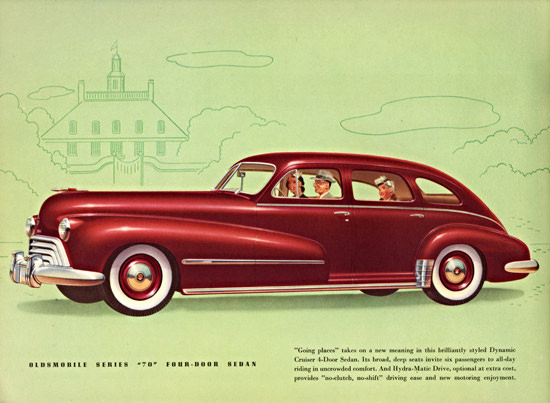 Oldsmobile Series 70 Sedan 1948 Going Places | Vintage Cars 1891-1970