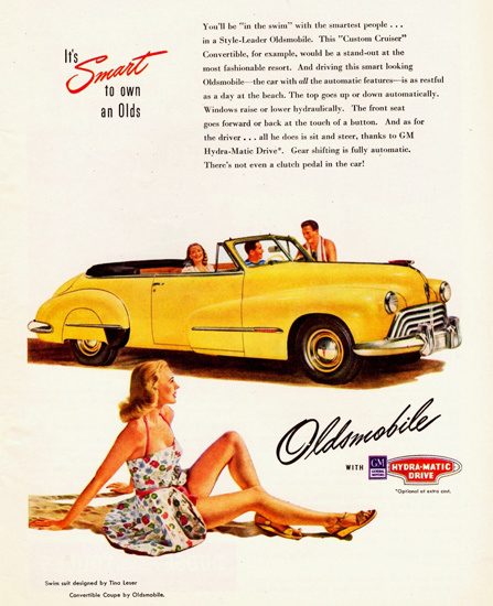 Oldsmobile Series 90 Custom Cruiser Conv 1947 | Sex Appeal Vintage Ads and Covers 1891-1970