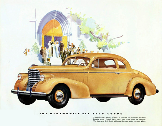 Oldsmobile Six Club Coupe 1938 | Vintage Cars 1891-1970