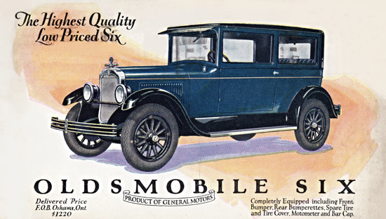 Oldsmobile Six Coach 1927 Oshawa | Vintage Cars 1891-1970