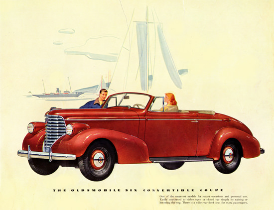 Oldsmobile Six Convertible Coupe 1938 | Vintage Cars 1891-1970