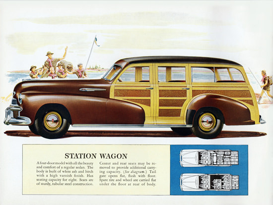 Oldsmobile Station Wagon 1942 Boy Scouts | Vintage Cars 1891-1970