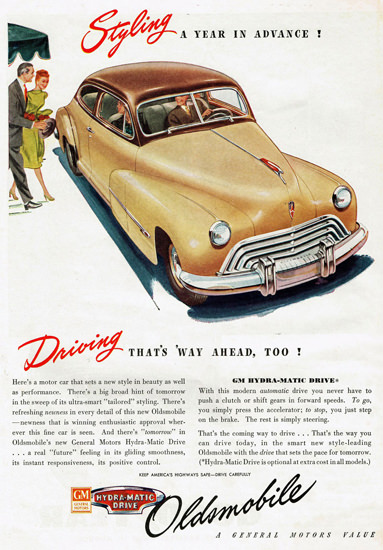 Oldsmobile Styling A Year In Advance 1947 | Vintage Cars 1891-1970