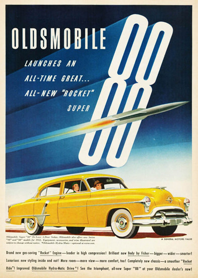 Oldsmobile Super 88 DeLuxe 4 Door Sedan 1951 | Vintage Cars 1891-1970