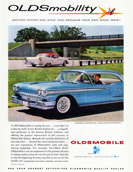 Oldsmobile Super 88 Holiday Sedan 1958   Vintage Cars 1891-1970