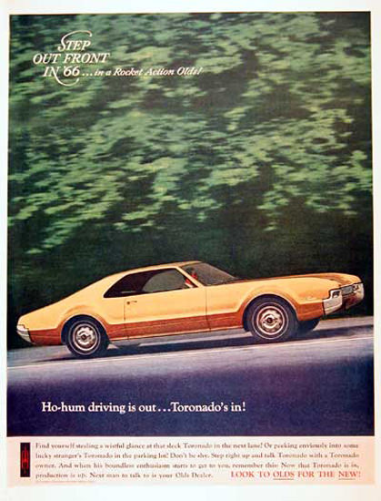 Oldsmobile Toronado 1966 Gold Step Out Front | Vintage Cars 1891-1970