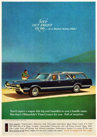 Oldsmobile Vista Cruiser Station 1966 Step Out Front | Vintage Cars 1891-1970