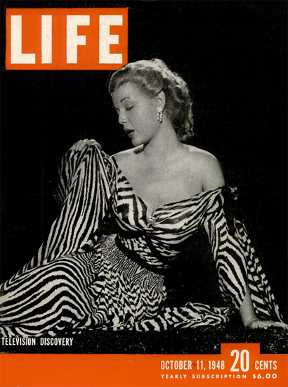 Olive Stacey Rita Colton on TV 11 Oct 1948 Copyright Life Magazine | Life Magazine BW Photo Covers 1936-1970