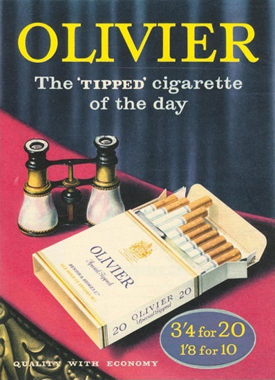 Oliver Cigarettes Theater Opera Glass | Vintage Ad and Cover Art 1891-1970