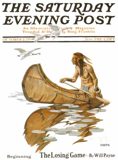 Oliver Kemp Artist Saturday Evening Post 1909_10_02 | The Saturday Evening Post Graphic Art Covers 1892-1930