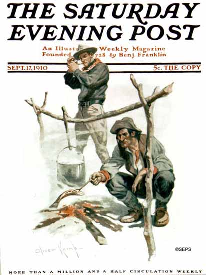 Oliver Kemp Cover Artist Saturday Evening Post 1910_09_17   The Saturday Evening Post Graphic Art Covers 1892-1930
