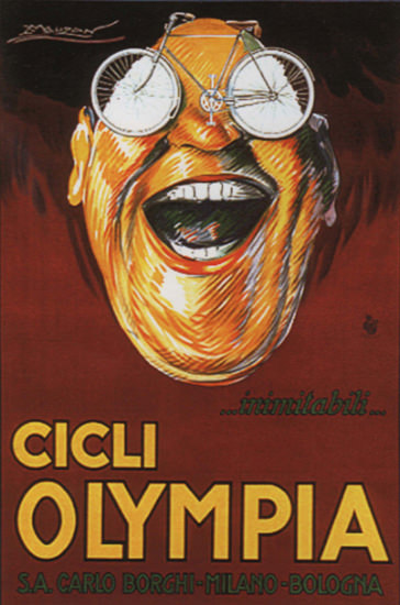 Olympia Cicli Milano Bologna Italy Italia Bicycles | Vintage Ad and Cover Art 1891-1970