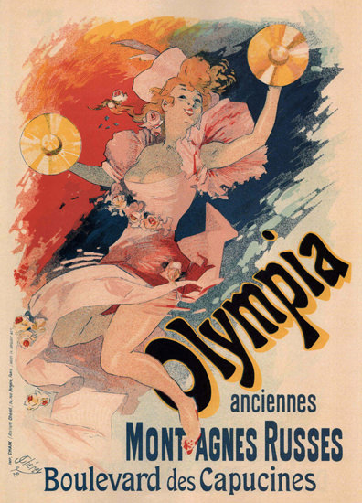 Olympia Montagnes Russes France Cabaret | Sex Appeal Vintage Ads and Covers 1891-1970