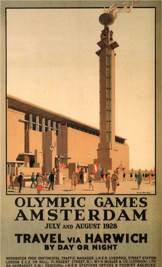 Olympic Games Amsterdam 1928 With Harwich | Vintage Ad and Cover Art 1891-1970