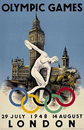 Olympic Games England London 1948 | Vintage Ad and Cover Art 1891-1970