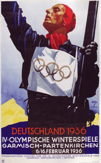 Olympic Games Garmisch Partenkirchen 1936 | Vintage Ad and Cover Art 1891-1970