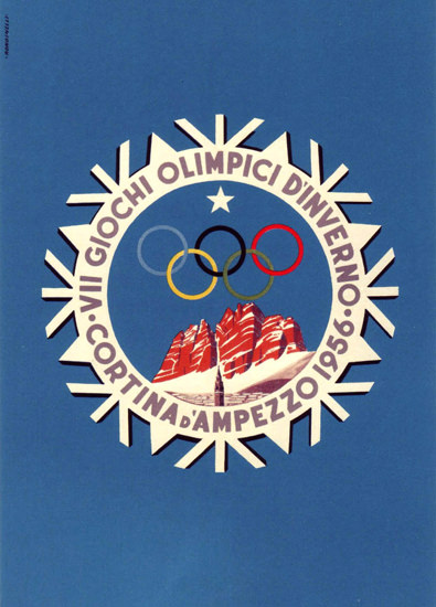 Olympic Games Italy Cortina D Ampezzo 1956 | Vintage Ad and Cover Art 1891-1970