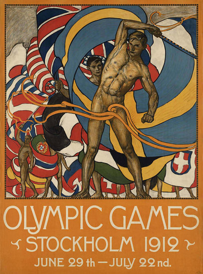 Olympic Games Stockholm 1912 Sweden | Sex Appeal Vintage Ads and Covers 1891-1970