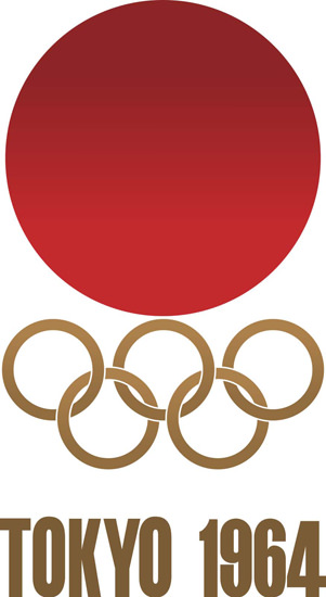 Olympic Games Tokyo Japan 1964 Logo | Vintage Ad and Cover Art 1891-1970