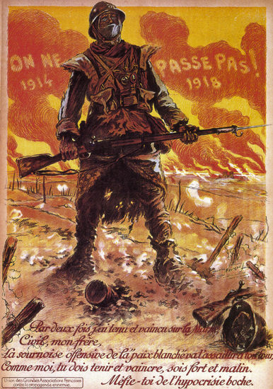 On Ne Passe Pas France 1918 Coming Third Reich | Vintage War Propaganda Posters 1891-1970