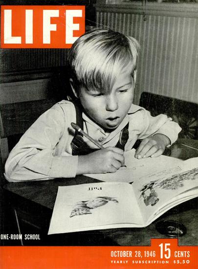 One-Room School 28 Oct 1946 Copyright Life Magazine | Life Magazine BW Photo Covers 1936-1970