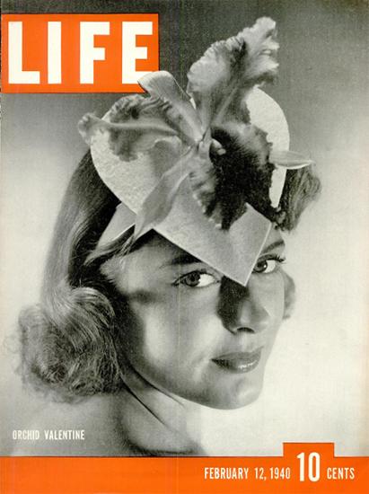 Orchid Valentine 12 Feb 1940 Copyright Life Magazine | Life Magazine BW Photo Covers 1936-1970