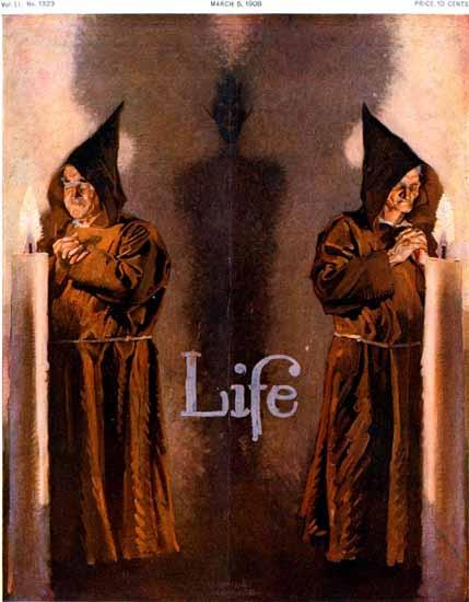 Orson Lowell Life Humor Magazine 1908-03-05 Copyright | Life Magazine Graphic Art Covers 1891-1936