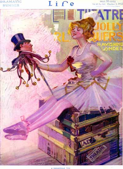 Orson Lowell Life Humor Magazine 1912-10-03 Copyright | Life Magazine Graphic Art Covers 1891-1936