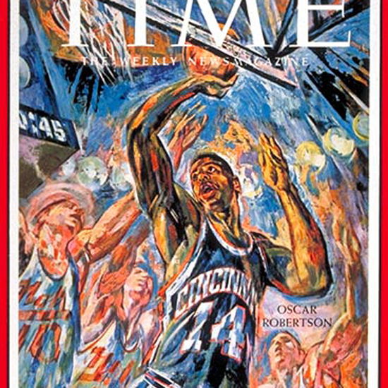 Oscar Robertson Time Magazine 1961-02 crop | Best of Vintage Cover Art 1900-1970