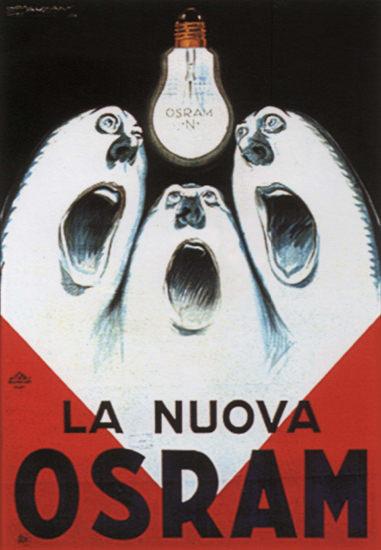 Osram La Nuova Italy Italia Light Bulbs | Vintage Ad and Cover Art 1891-1970