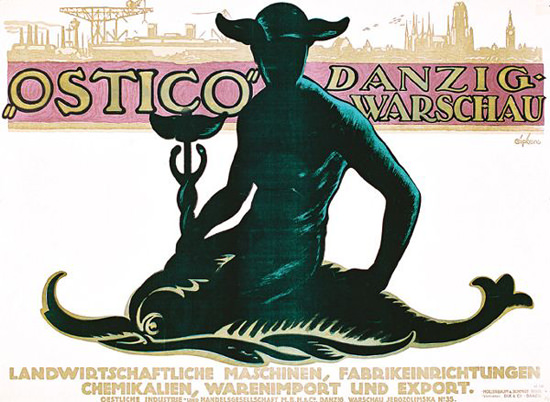 Ostico Danzig-Warschau Expo 1913 | Sex Appeal Vintage Ads and Covers 1891-1970