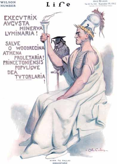 Otho Cushing Life Humor Magazine 1912-09-19 Copyright | Life Magazine Graphic Art Covers 1891-1936
